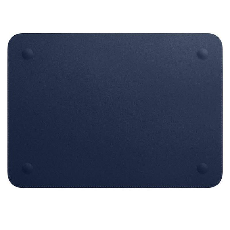 """Pasta em pele para MacBook de 12"""" - Azul meia-noite"""