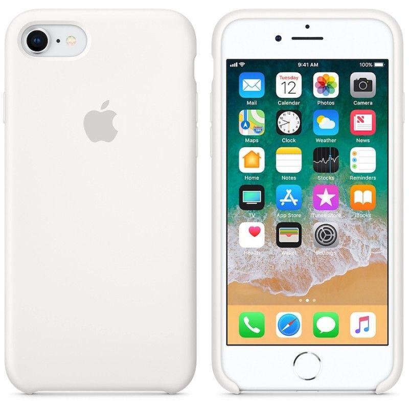 Capa em silicone para iPhone 8 / 7 - Branco