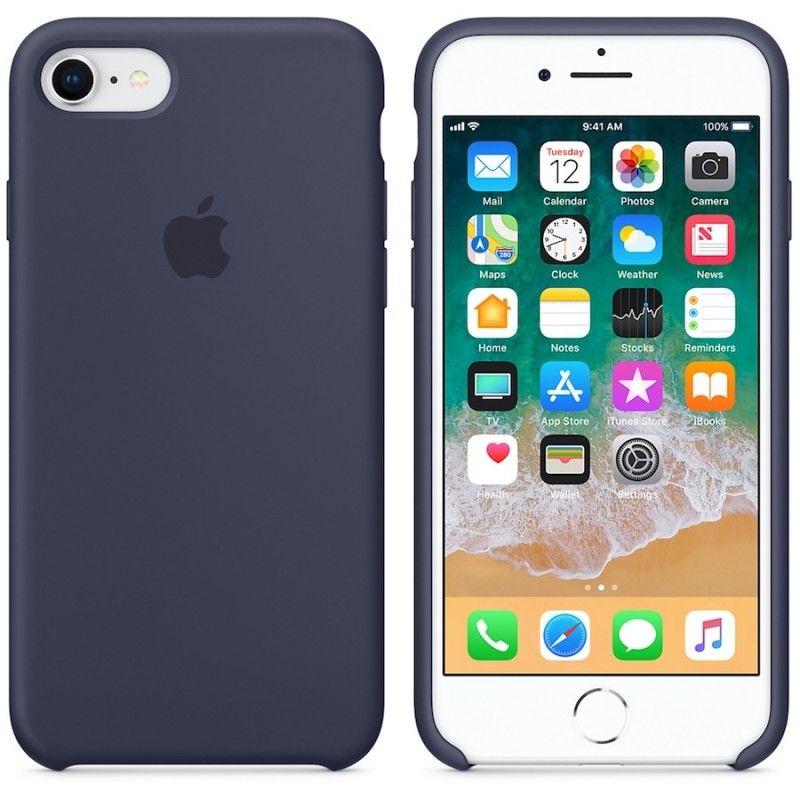 Capa em silicone para iPhone 8 / 7 - Azul meia-noite
