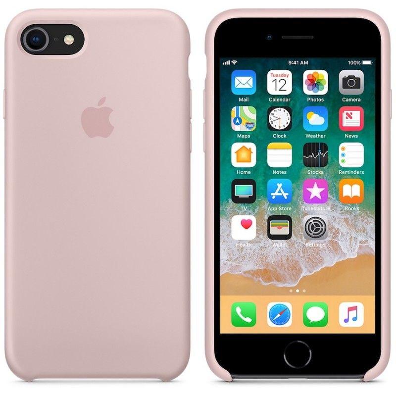 Capa em silicone para iPhone 8 / 7 - Rosa-areia