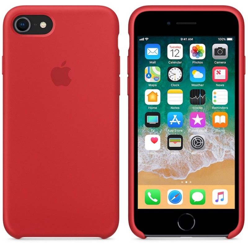 Capa em silicone para iPhone 8 / 7 - (PRODUCT) RED