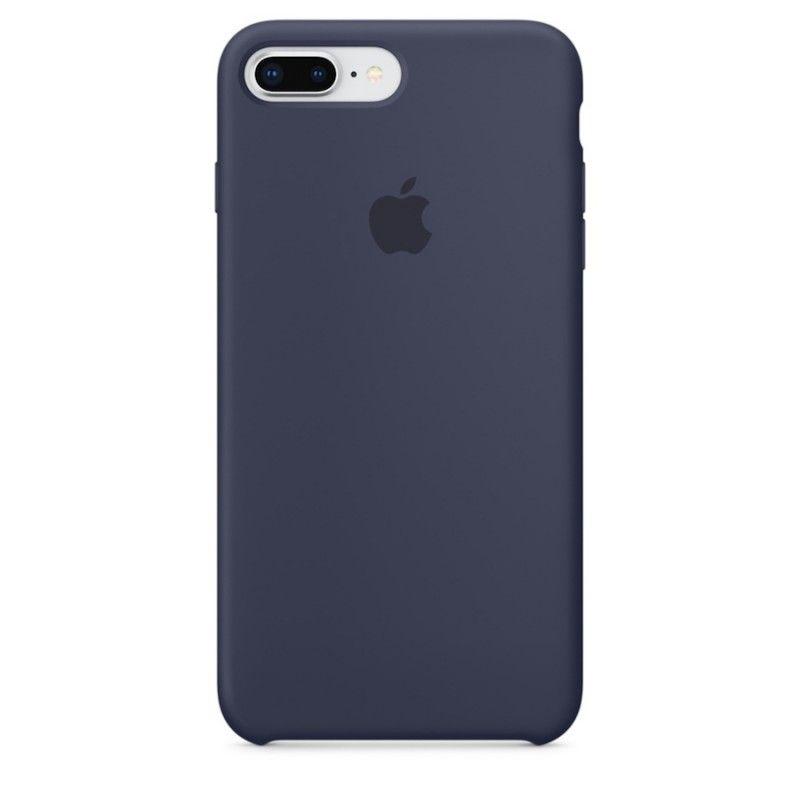 Capa em silicone para iPhone 8 Plus / 7 Plus - Azul meia-noite