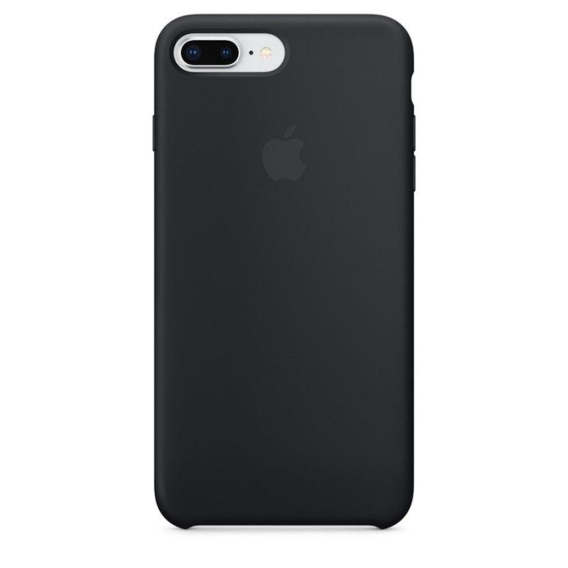 Capa em silicone para iPhone 8 Plus / 7 Plus - Preto