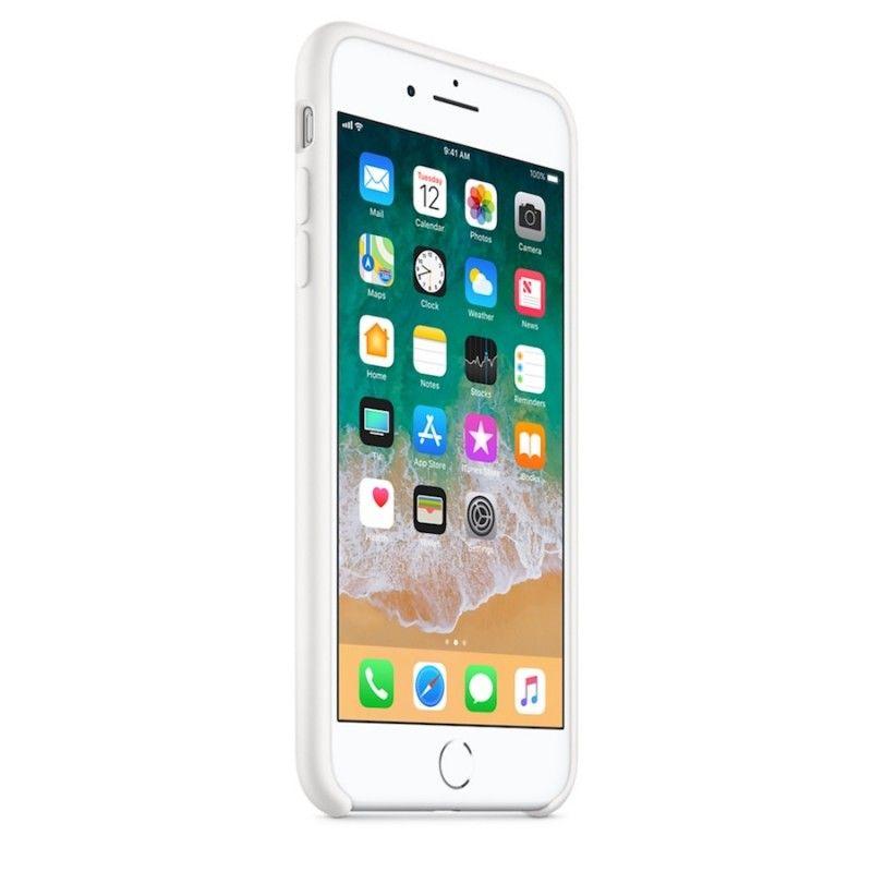 Capa em silicone para iPhone 8 Plus / 7 Plus - Branco