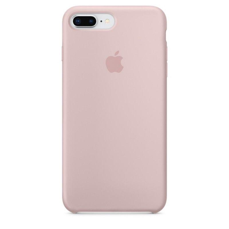 Capa em silicone para iPhone 8 Plus / 7 Plus - Rosa-areia