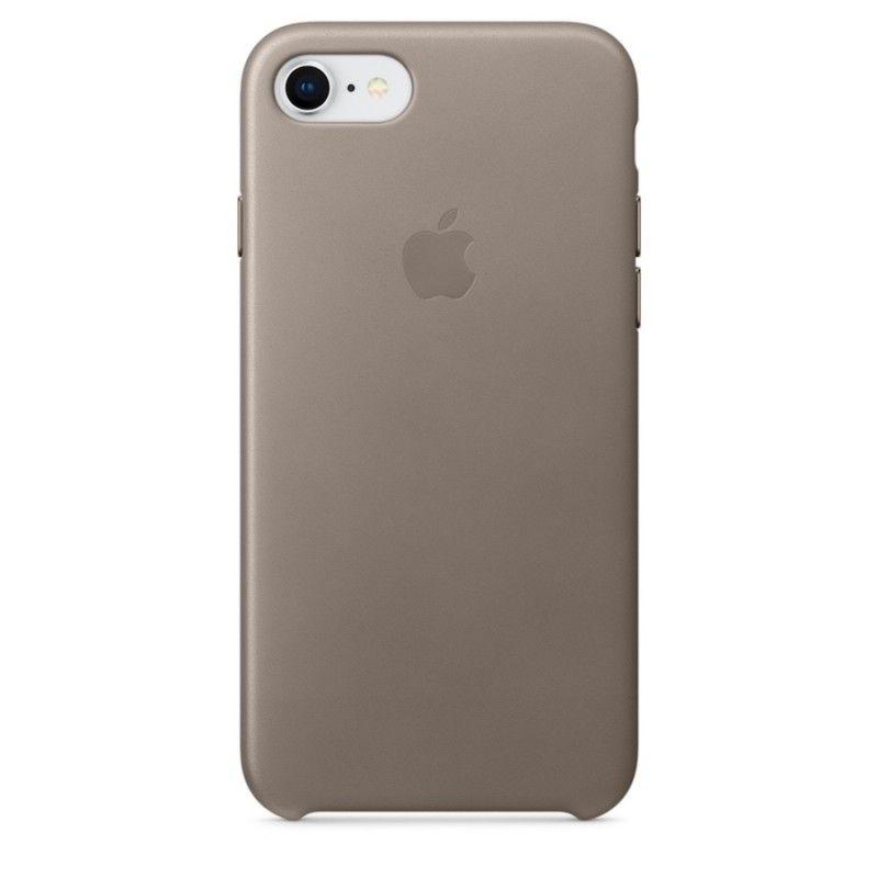 Capa em pele para iPhone 8 / 7 - Castanho-toupeira