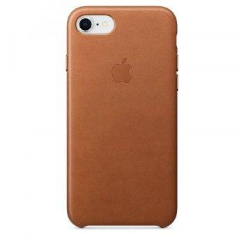 Capa em pele para iPhone 8 / 7 - Castanho-sela