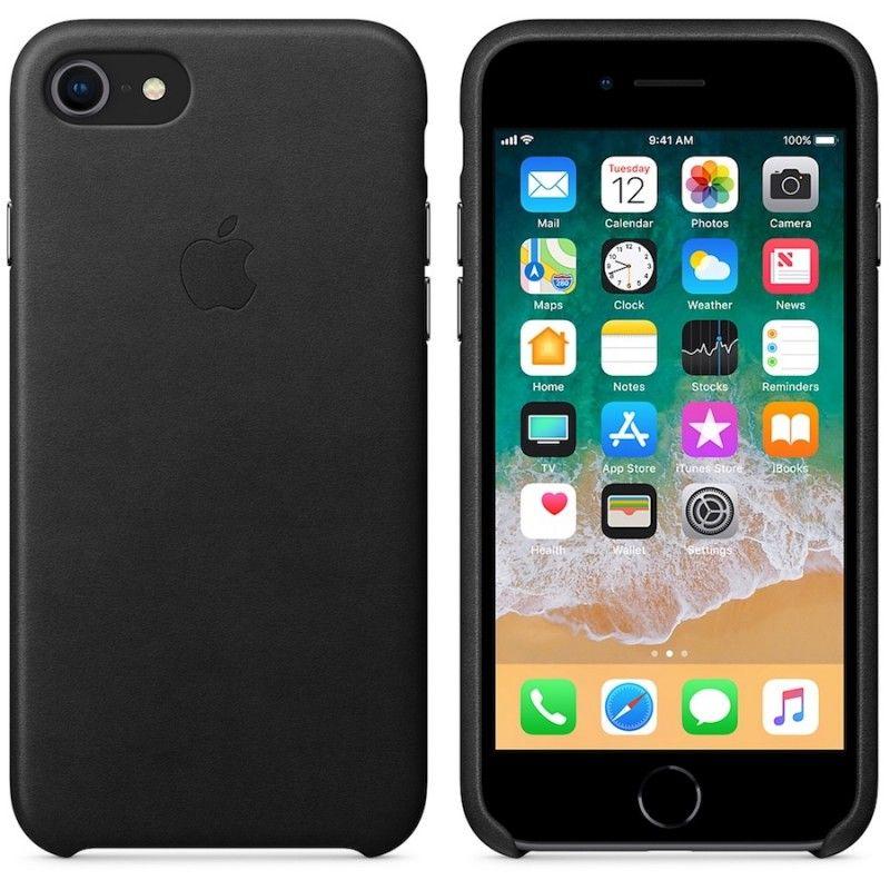 Capa em pele para iPhone 8 / 7 - Preto