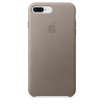 Capa em pele para iPhone 8 Plus / 7 Plus - Castanho-toupeira