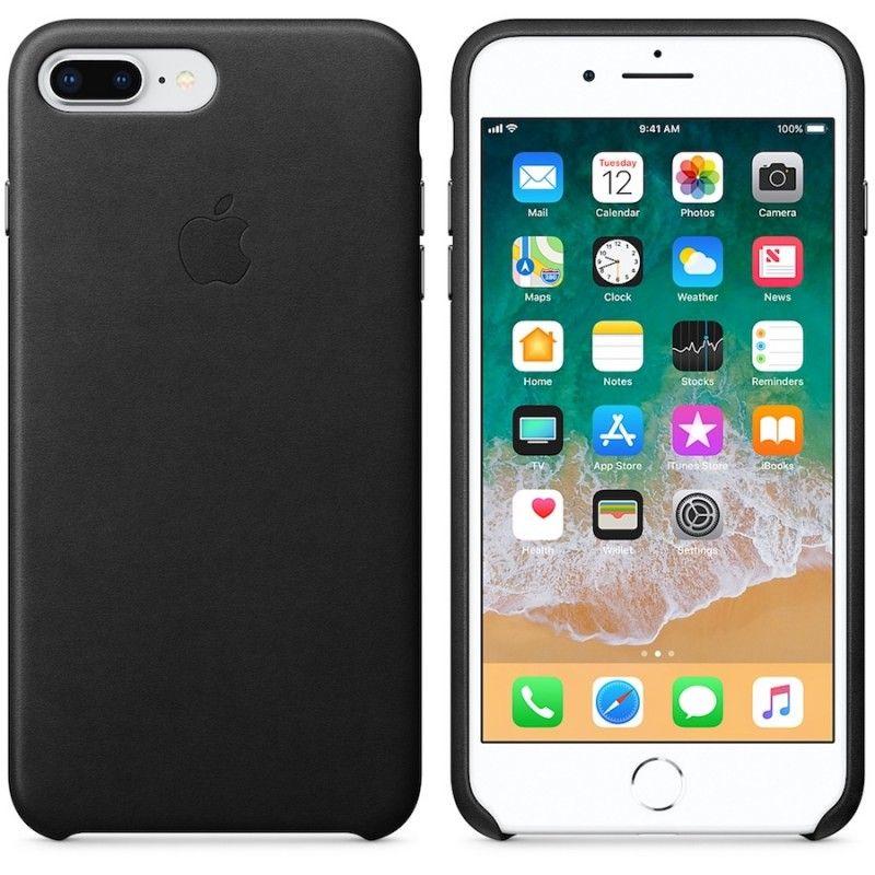 Capa em pele para iPhone 8 Plus / 7 Plus - Preto