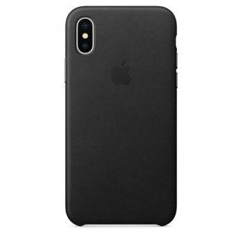Capa em pele para iPhone X - Preto