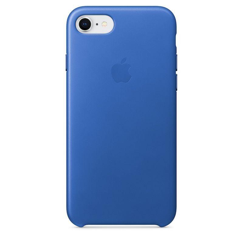 Capa em pele para iPhone 8 / 7 - Azul-elétrico