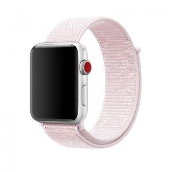 Bracelete Apple Nike Loop desportiva (42 mm) - Rosa pérola