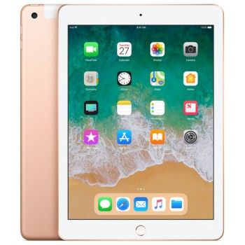 iPad Wi-Fi + Cellular 128GB - Dourado