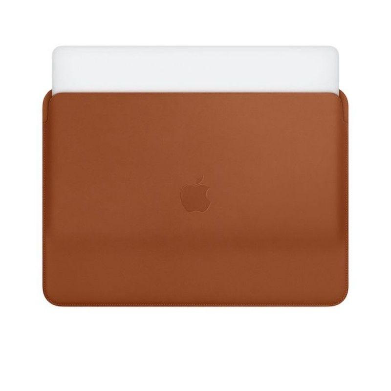 Pasta em pele para MacBook Pro de 13 polegadas - Castanho-sela