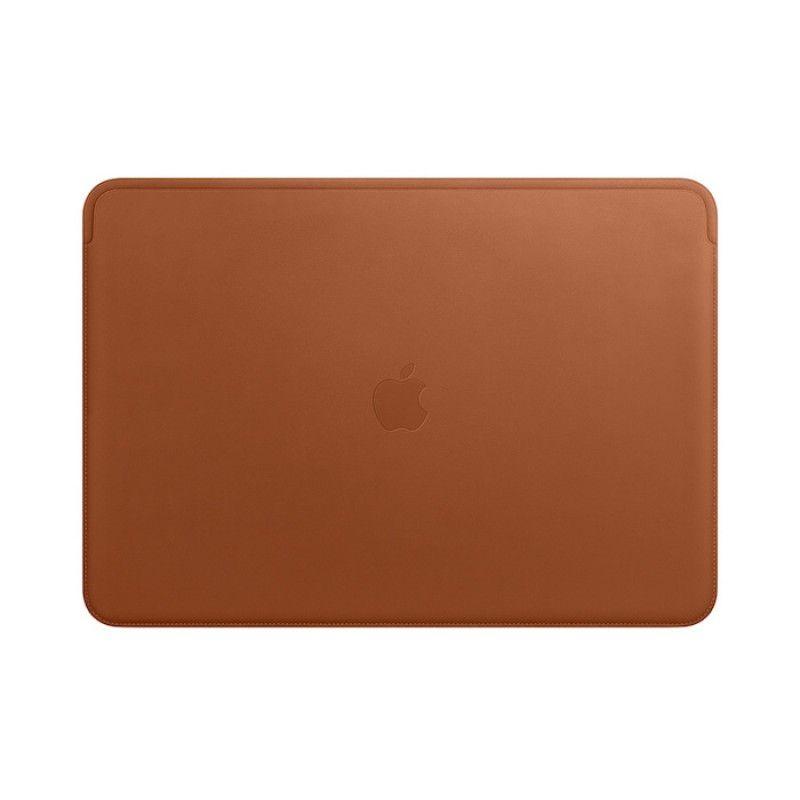 Pasta em pele para MacBook Pro de 15 polegadas - Castanho-sela
