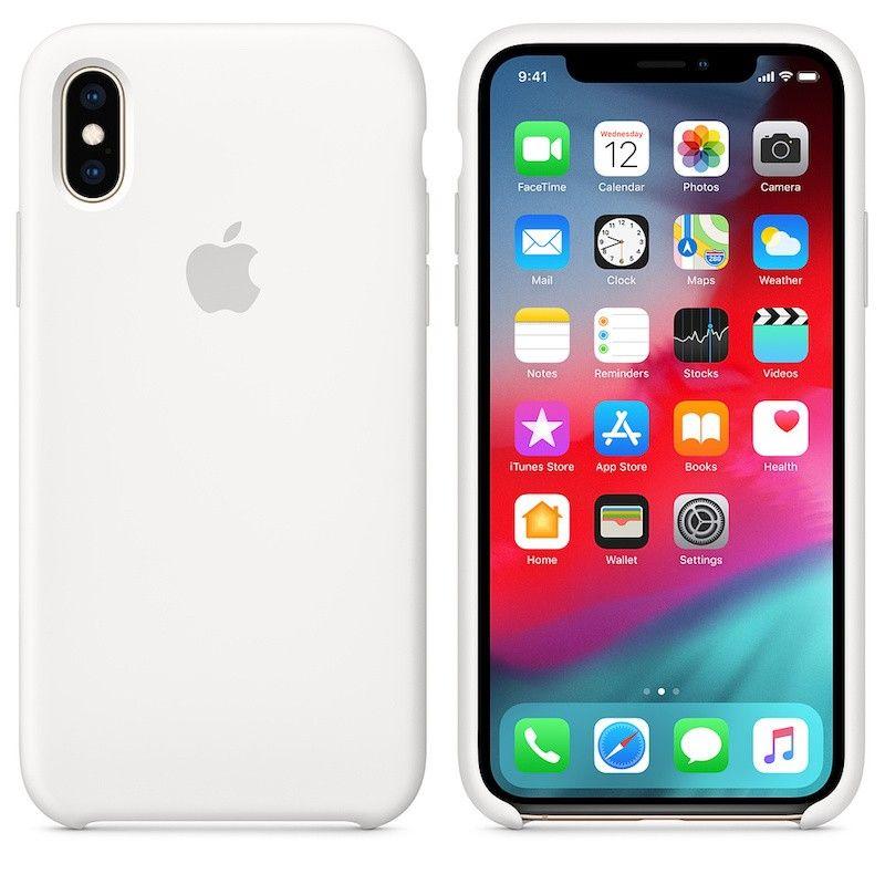 Capa para iPhone XS em silicone - Branco