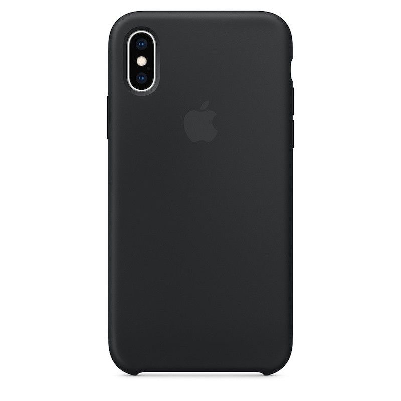 Capa para iPhone XS em silicone - Preto