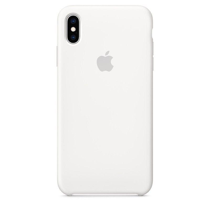 Capa para iPhone XS Max em silicone - Branco