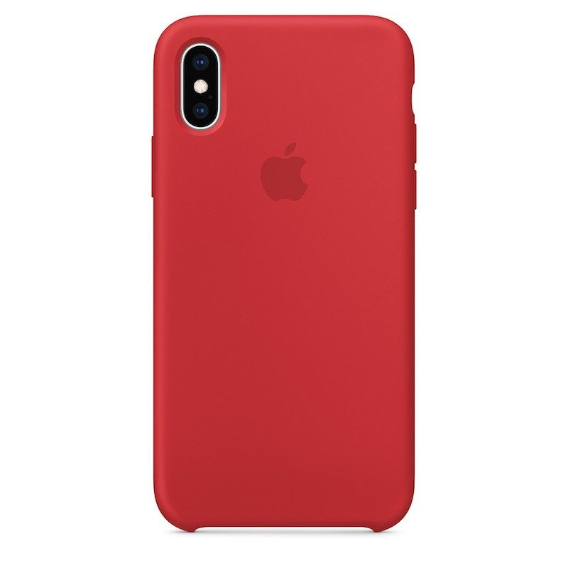 Capa para iPhone XS em silicone - (PRODUCT) RED