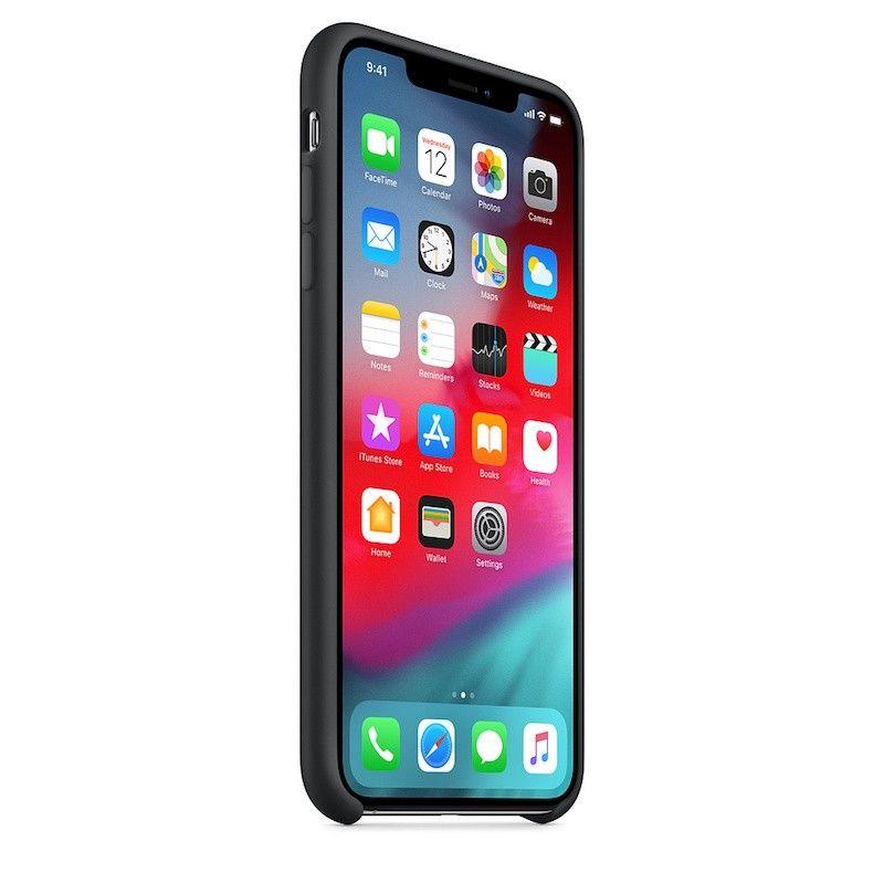 Capa para iPhone XS Max em silicone - Preto