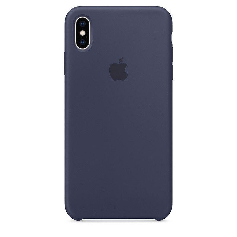 Capa para iPhone XS Max em silicone - Azul meia-noite