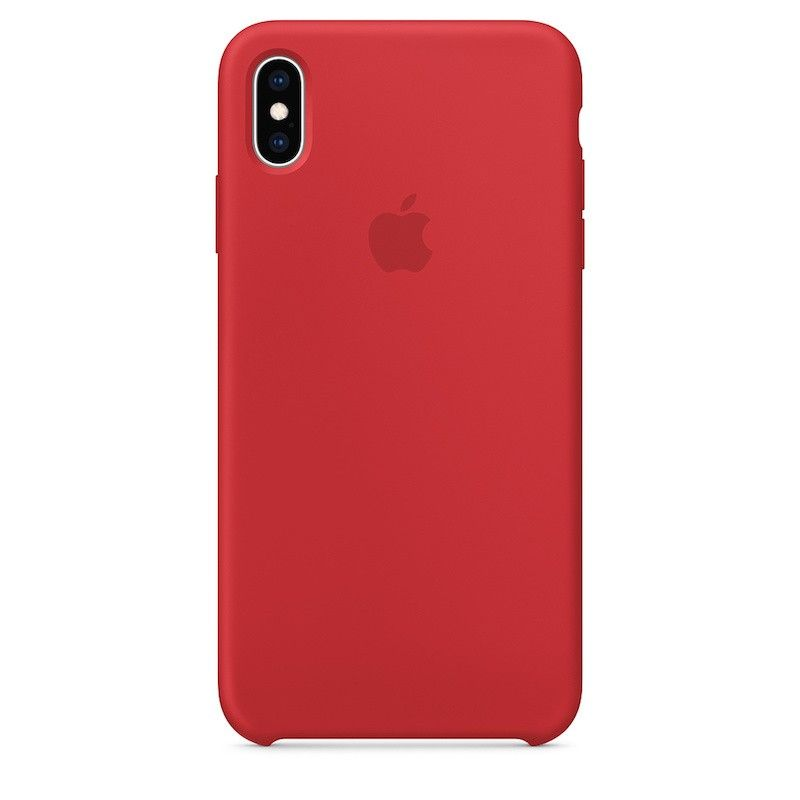 Capa para iPhone XS Max em silicone - (PRODUCT)RED