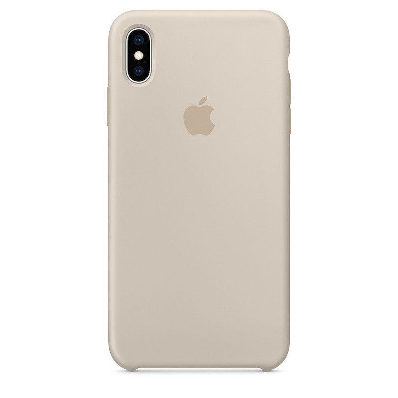 Capa para iPhone XS Max em silicone - Cinzento-pedra
