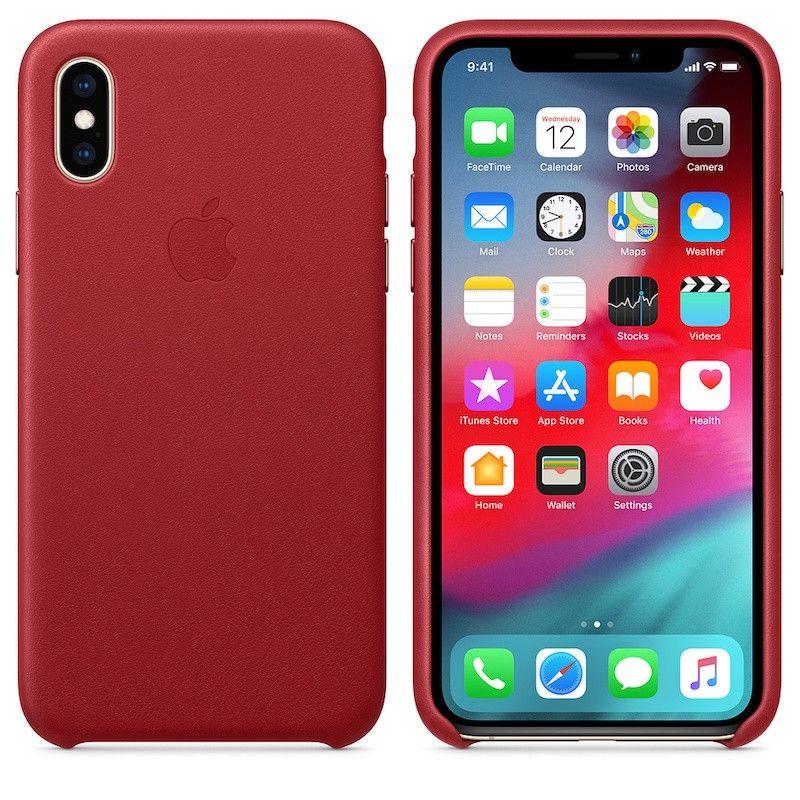 Capa para iPhone XS em pele - (PRODUCT) RED