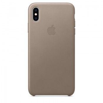 Capa para iPhone XS Max em pele - Castanho-toupeira