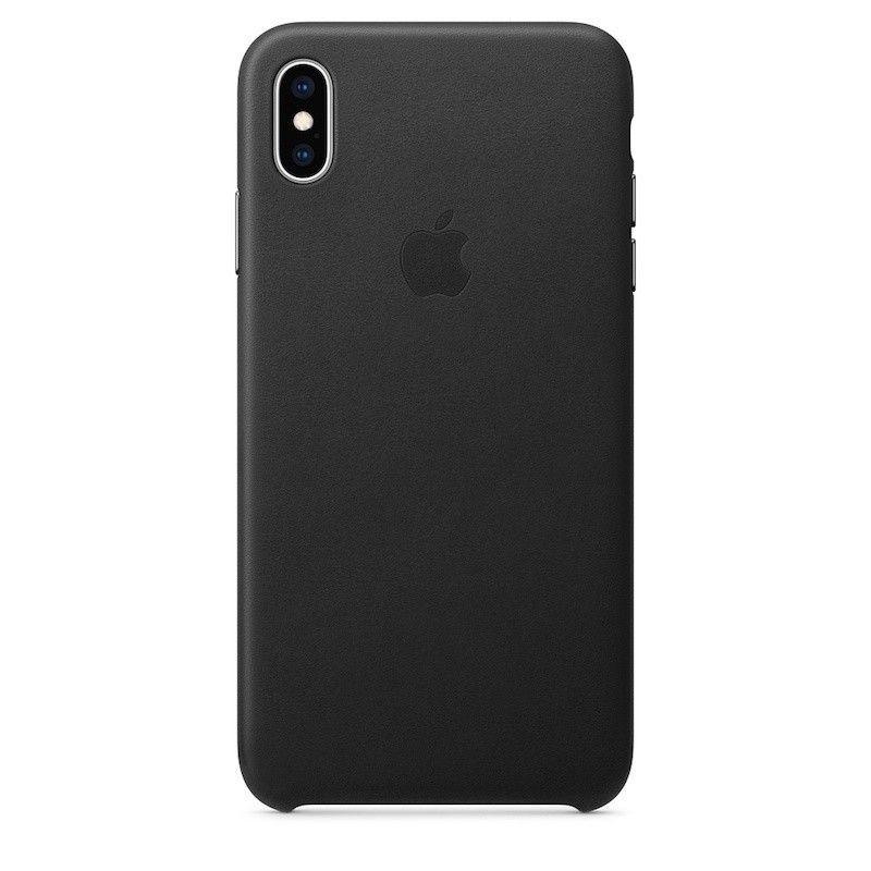 Capa para iPhone XS Max em pele - Preto