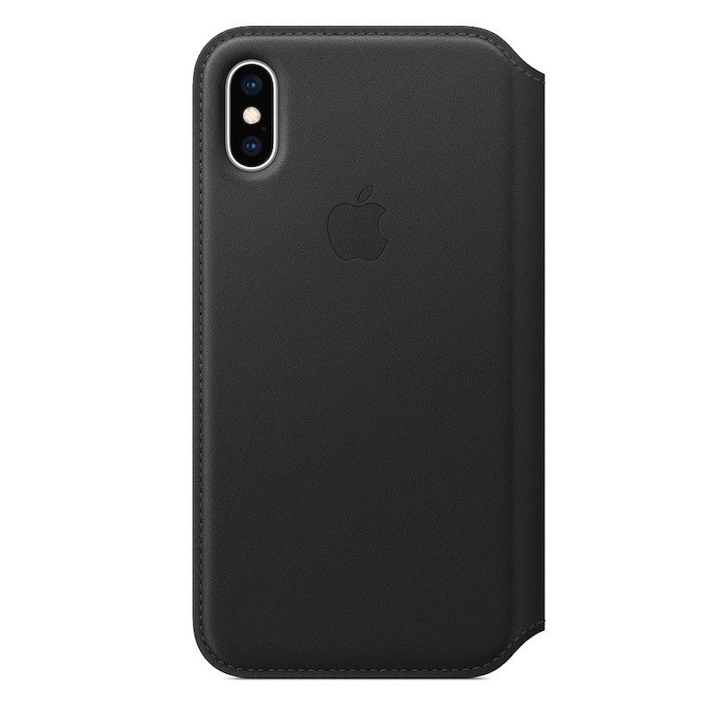 Capa Folio em pele para iPhone XS - Preto
