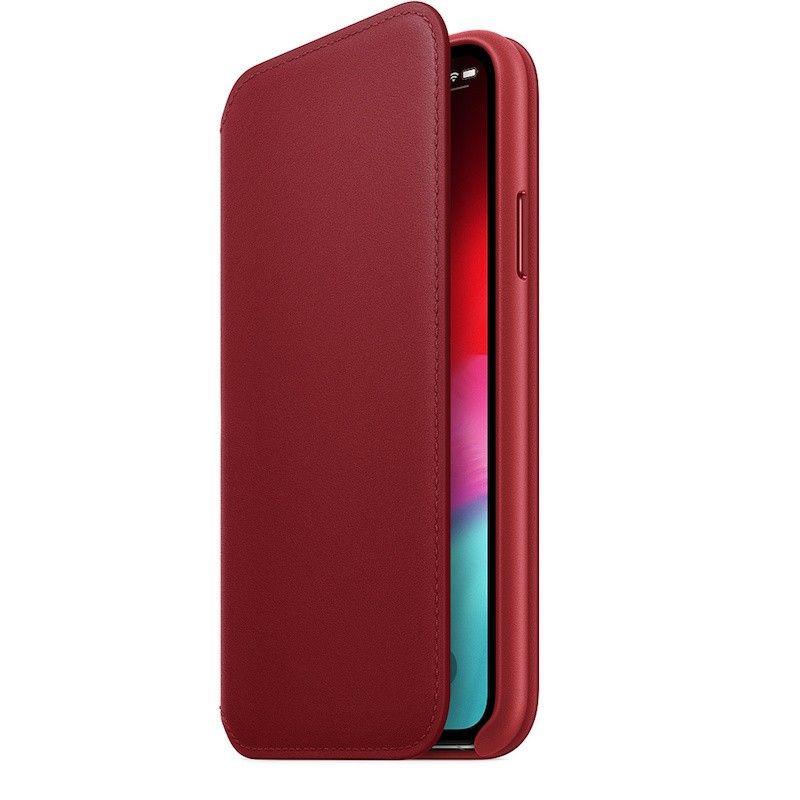 Capa Folio em pele para iPhone XS - (PRODUCT) RED