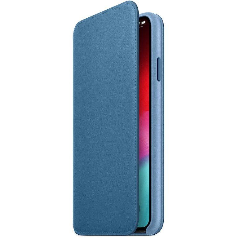 Capa Folio em pele para iPhone XS Max - Azul-horizonte
