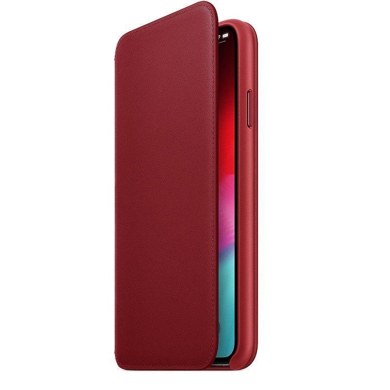 Capa Folio em pele para iPhone XS Max - (Product) Red
