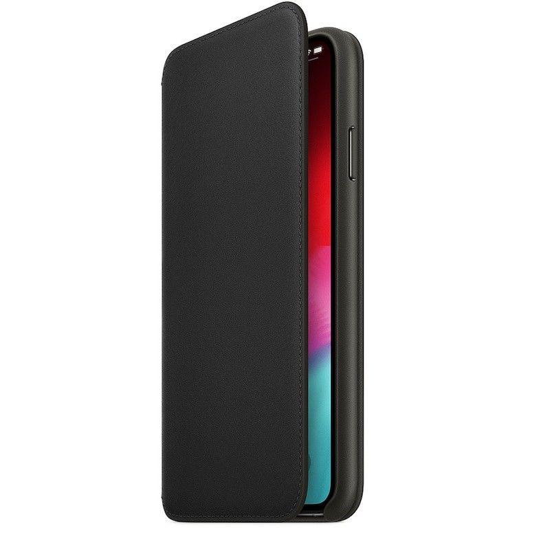 Capa Folio em pele para iPhone XS Max - Preto