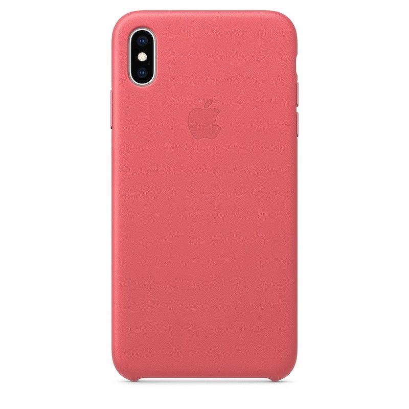 Capa para iPhone XS Max em pele - Rosa-peónia