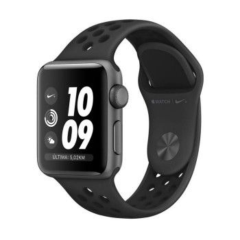 Apple Watch 3 Nike+ GPS, 38 mm alumínio cinzento, bracelete preta