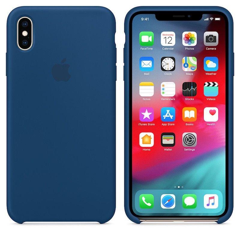 Capa para iPhone XS Max em silicone - Azul-horizonte