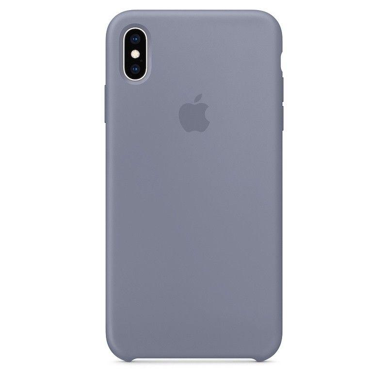 Capa para iPhone XS Max em silicone - Cinzento-lilás