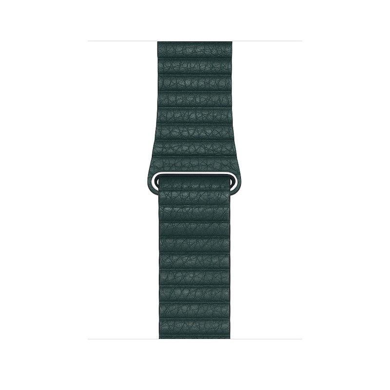 Bracelete Loop em pele para Apple Watch (44/42 mm) grande - Verde-floresta