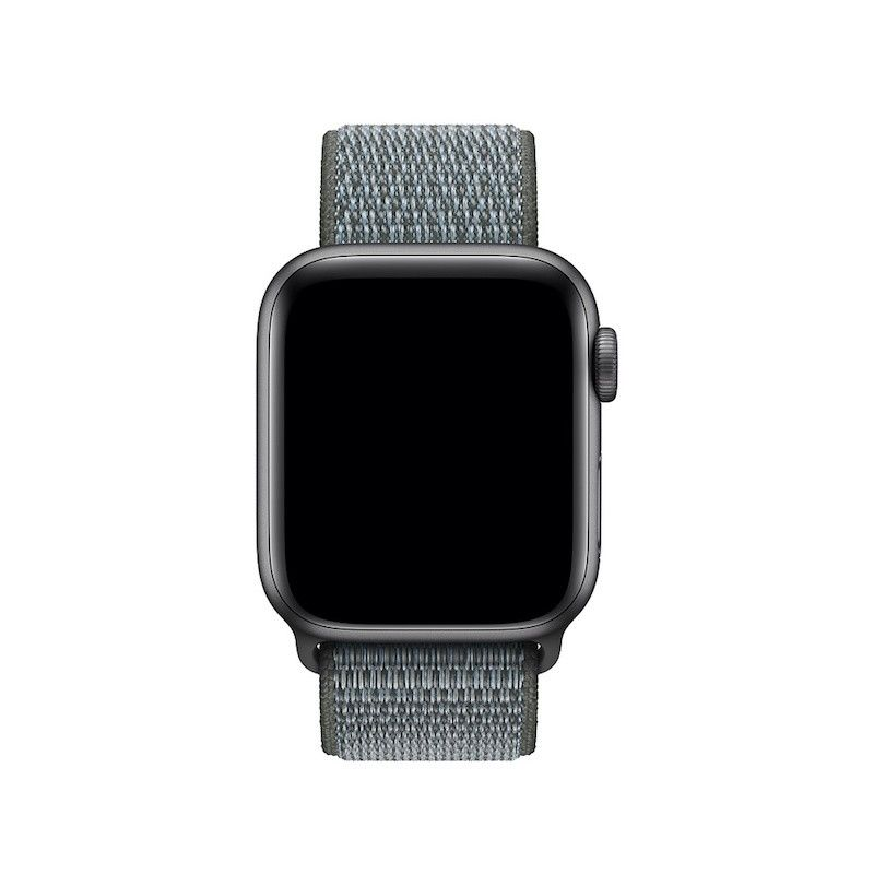 Bracelete Loop desportiva para Apple Watch (40/38 mm) - Cinzento-tempestade