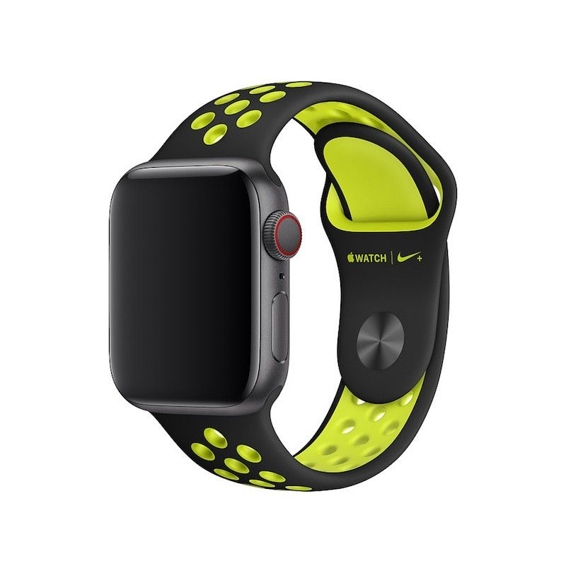 Bracelete desportiva Nike para Apple Watch (40/38 mm) S/M & M/L - Preto/Volt