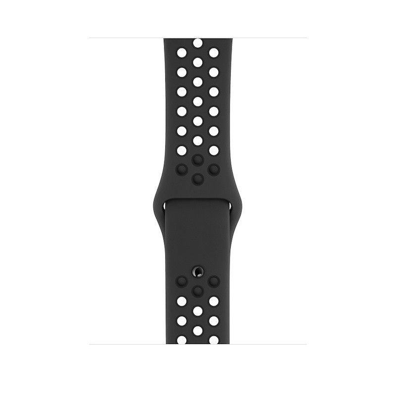 Bracelete desportiva Nike para Apple Watch (44/42) mm) S/M & M/L- Antracite / Preto
