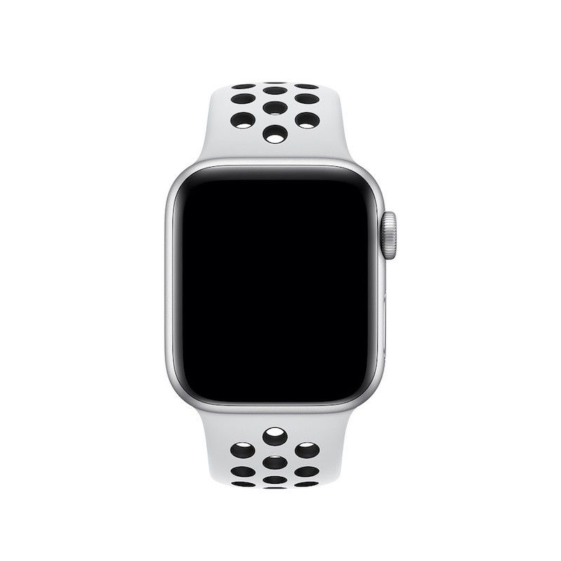 Bracelete desportiva Nike para Apple Watch (40/38 mm) S/M & M/L - Platinum/Preto