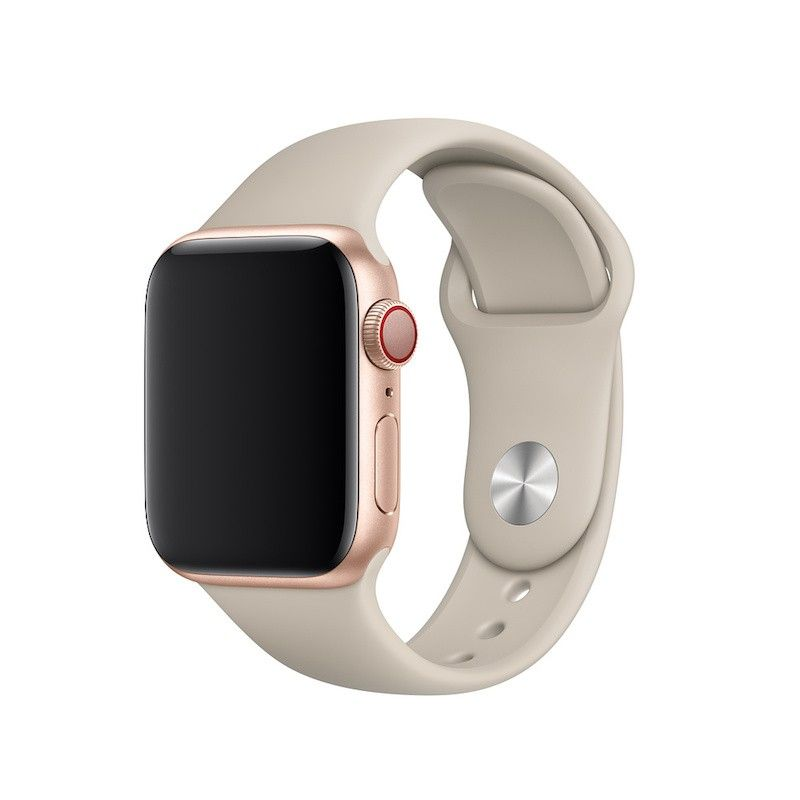 Bracelete desportiva para Apple Watch (40/38 mm) S/M & M/L - Cinzento-pedra