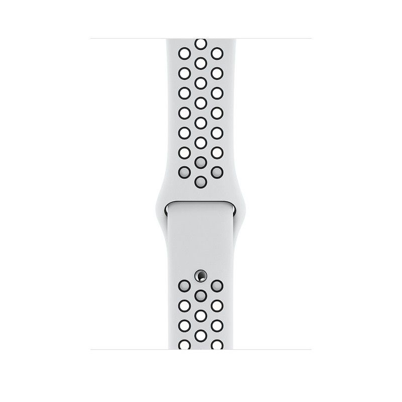 Bracelete desportiva Nike para Apple Watch (44/42 mm) S/M & M/L - Platinum/Preto