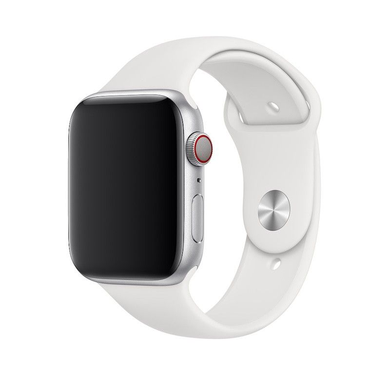 Bracelete desportiva para Apple Watch (44/42 mm) S/M & M/L - Branca