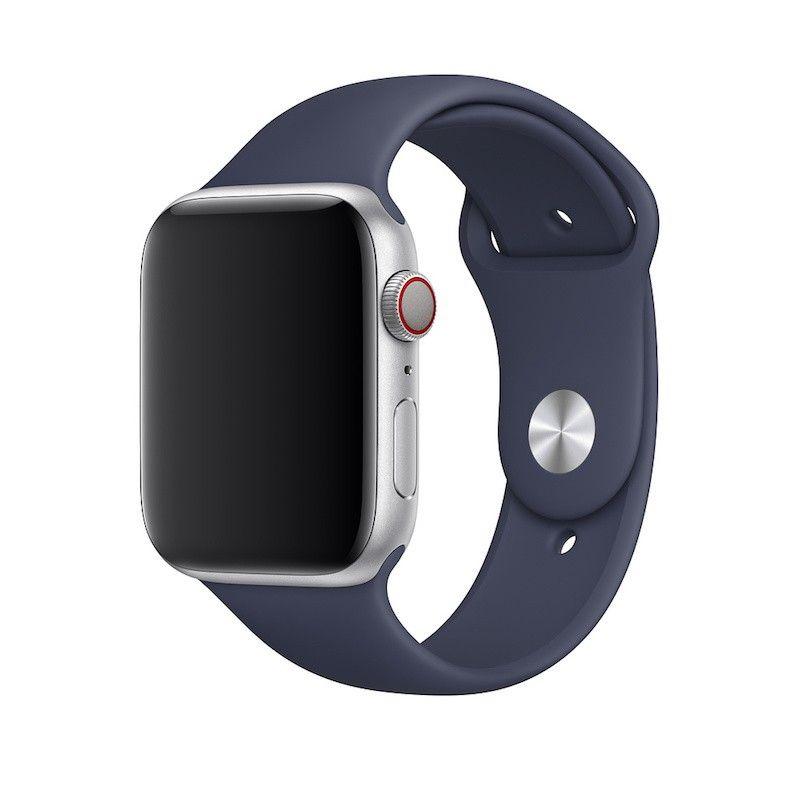 Bracelete desportiva para Apple Watch (44/42 mm) S/M & M/L - Azul meia-noite