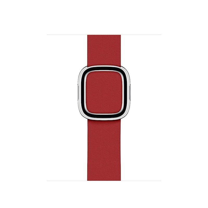 Bracelete para Apple Watch em pele e fivela moderna (40/38 mm) média - (PRODUCT) RED